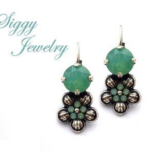 Jewelry - Swarovski® Crystal Earrings, Pacific Opal Flower